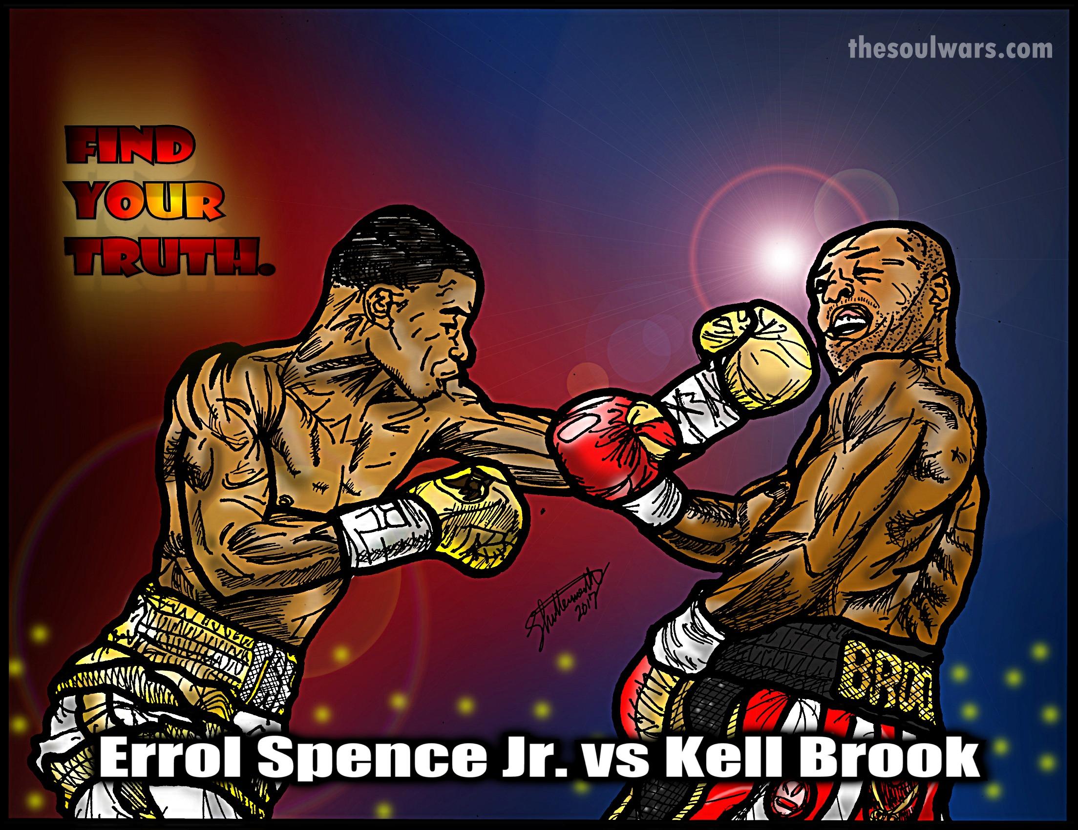 Errol Spence Jr vs Kell Brook 20×30 Poster